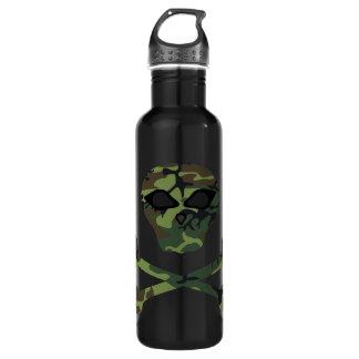 Wicked Camo Skull and Crossbones Water Bottle