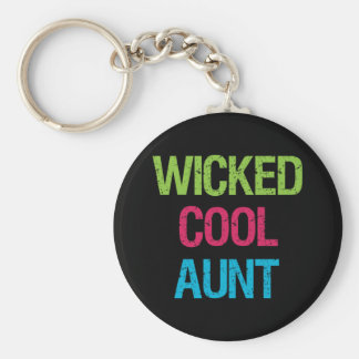 Wicked Cool Aunt Keychain