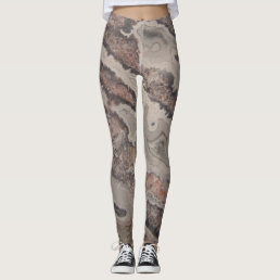 Wicked Crazy Lace Agate Natural Rock Designed Leggings