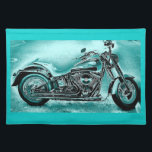 """Wicked Cruiser Cloth Placemat<br><div class=""""desc"""">Wow! What a Sharp Looking Custom Harley Motorcycle Placemat!</div>"""