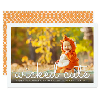 Wicked Cute Halloween Photo Card
