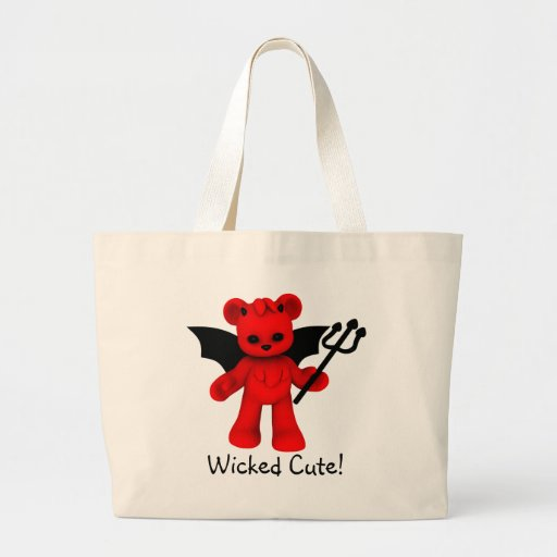 Wicked Cute Teddy Bear Tote Bag