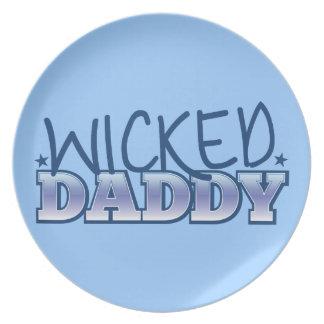 Wicked DADDY Melamine Plate