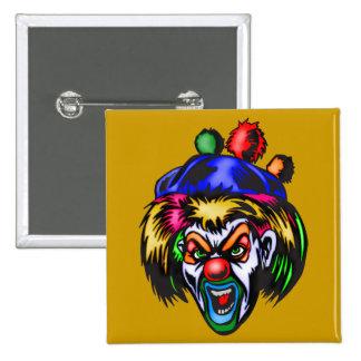 Wicked Evil Clown 2 Inch Square Button