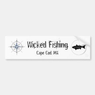 Wicked Fishing Sticker Car Bumper Sticker