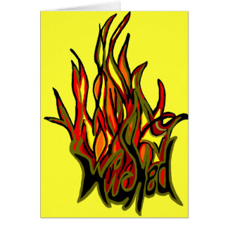 wicked flame note card