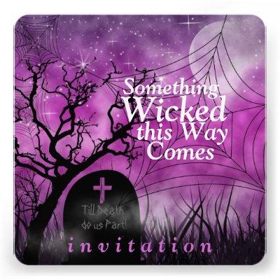 Wicked Fun Halloween Wedding Invitation