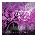 """Wicked Fun Halloween Wedding Invitation 5.25"""" Square Invitation Card"""