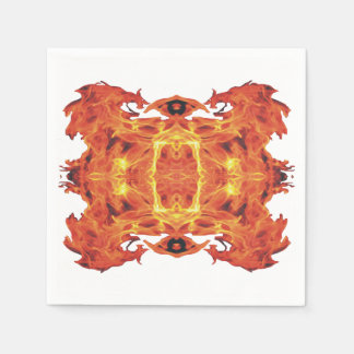 Wicked Geometric Flames Napkins