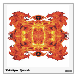 Wicked Geometric Flames Wall Decal