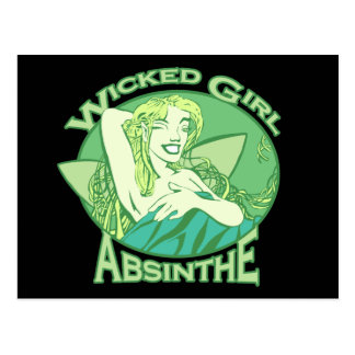 Wicked Girl Absinthe Postcard