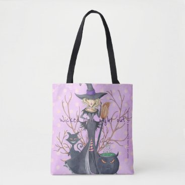 Halloween Themed Wicked girls night out witch bachelorette party tote bag