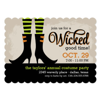 Wicked Good Halloween Costume Party 5x7 Paper Invitation Card