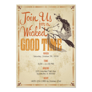 Wicked Good Time Halloween Invitation