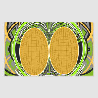 Wicked green and yellow superfly skateboard design rectangular sticker