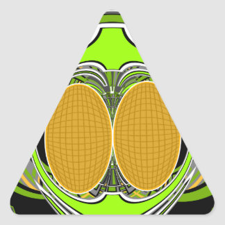 Wicked green and yellow superfly skateboard design triangle sticker