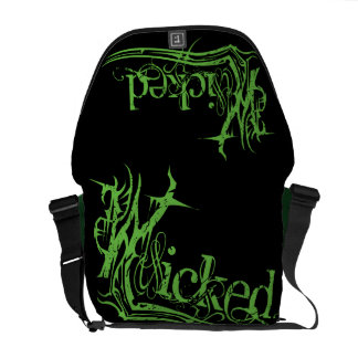 Wicked Green Messenger Bag