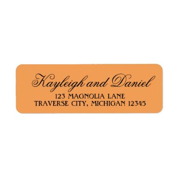 Halloween Themed Wicked Halloween Chevron Orange Black Address Label