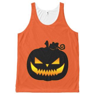 Wicked Halloween Pumpkin All-Over-Print Tank Top