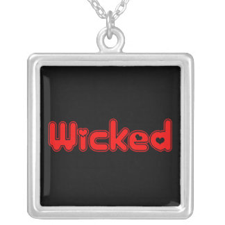 Wicked Heart Silver Plated Necklace