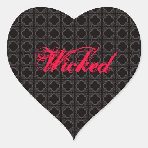 wicked heart sticker