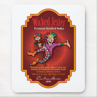 Wicked Jester Vodka Mouse Pad