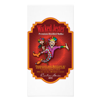 Wicked Jester Vodka Picture Card