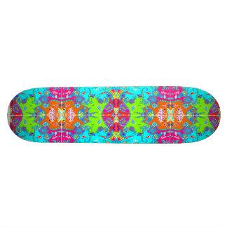 Wicked Kaleidoscope Lime Green & Blue Skateboard