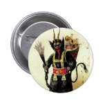 Wicked Krampus Scary Demon Holiday Christmas Xmas 2 Inch Round Button