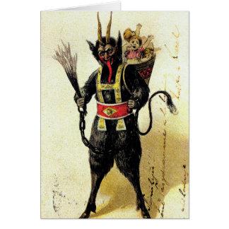 Wicked Krampus Scary Demon Holiday Christmas Xmas Card