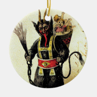 Wicked Krampus Scary Demon Holiday Christmas Xmas Ceramic Ornament