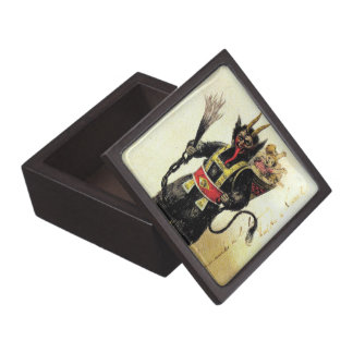 Wicked Krampus Scary Demon Holiday Christmas Xmas Keepsake Box