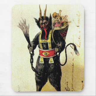 Wicked Krampus Scary Demon Holiday Christmas Xmas Mouse Pad