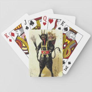Wicked Krampus Scary Demon Holiday Christmas Xmas Poker Deck