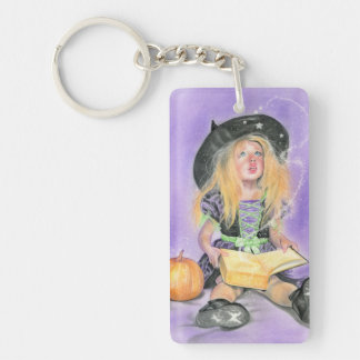 Wicked little witch spells keychain
