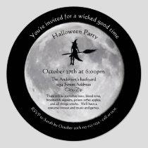 Wicked Moon - Circle Halloween Party Invitation