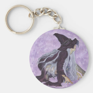 wicked moon witch basic round button keychain