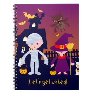 Wicked Mummy and Witch on Halloween Note Book
