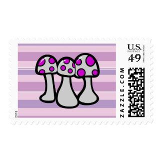 Wicked Mushroom Postage Stamps