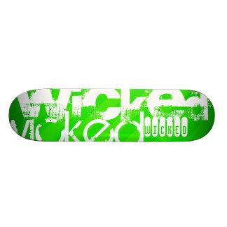 Wicked; Neon Green Stripes Skateboard Deck