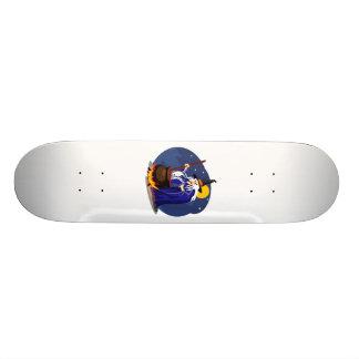 Wicked old crone skate board deck