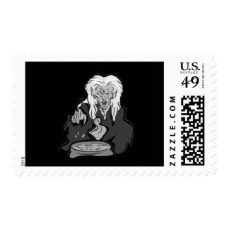 Wicked Old Gray Witch Postage Stamps