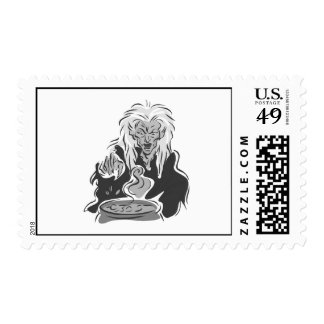Wicked Old Gray Witch Postage Stamp