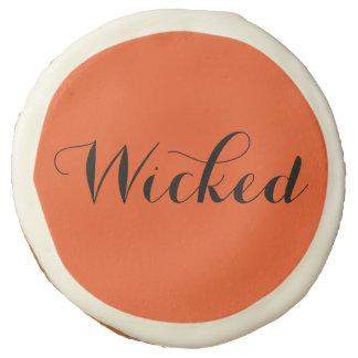 Wicked Orange Halloween Cookie