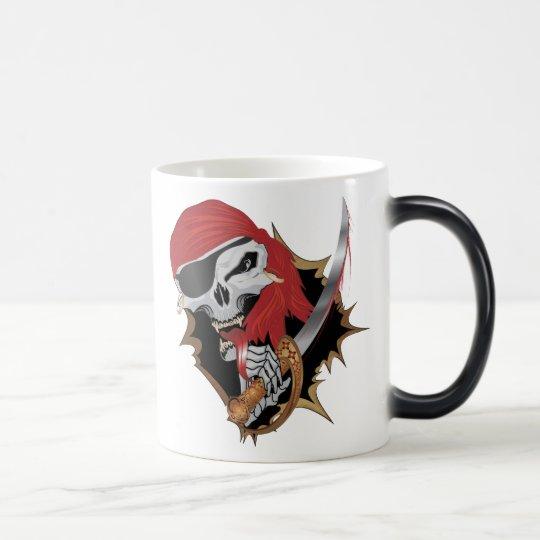Wicked Pirate Skull Magic Mug