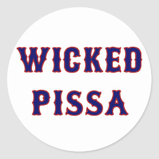 Wicked Pissa Classic Round Sticker