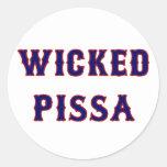 Wicked Pissa Stickers