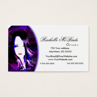Wicked Purple Hair Stylist Business Card 2