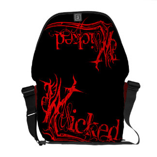 Wicked Red Messenger Bag