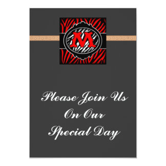 wicked red zebra initial letter M Announcement